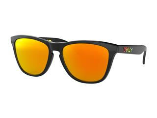 Lunettes de soleil OAKLEY Frogskins Valentino Rossi Signature Series Polish Black verres PRIZM Ruby