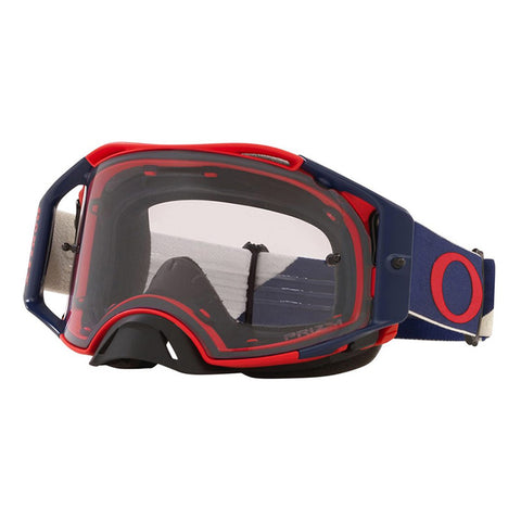 Masque OAKLEY Airbrake MX B1B Red Navy écran Prizm MX Low Light