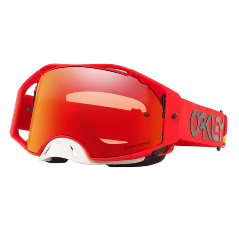 Masque OAKLEY Airbrake MX Heritage Stripe Red écran Prizm MX Torch Iridium