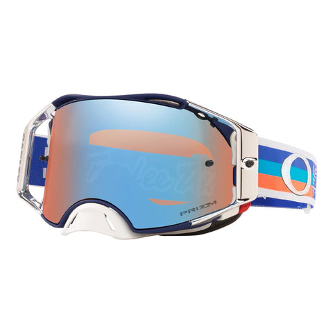 Masque OAKLEY Airbrake MX Troy Lee Design Premix Navy Orange écran Prizm MX Sapphire Iridium