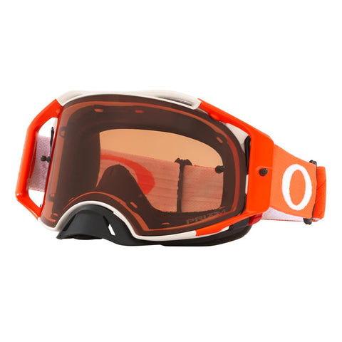 Masque OAKLEY Airbrake MX Tuff Blocks White Orange écran Prizm MX Bronze