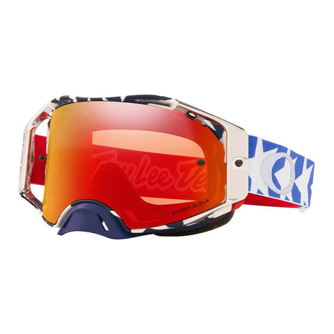 Masque OAKLEY Airbrake MX Troy Lee Design Patriot RWB écran Prizm MX Torch Iridium