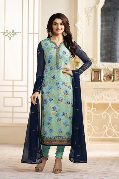 Latest Trendy Heavy Georgette Codding embroidered work festive wear Bollywood Suit