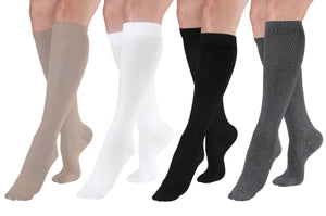 Thin & Soft Knee-High Compression Socks - Tan