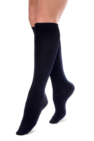 Thin & Soft Knee-High Compression Socks - Navy