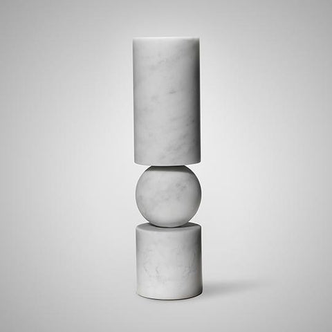 Fulcrum Candlestick White Marble