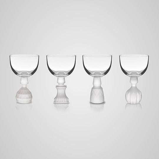 Half Cut Frosted Wine Glass