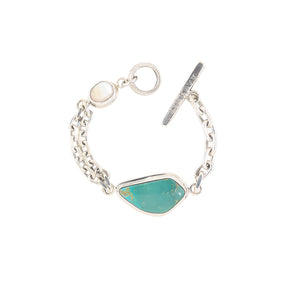 Turquoise and Shell Bracelet