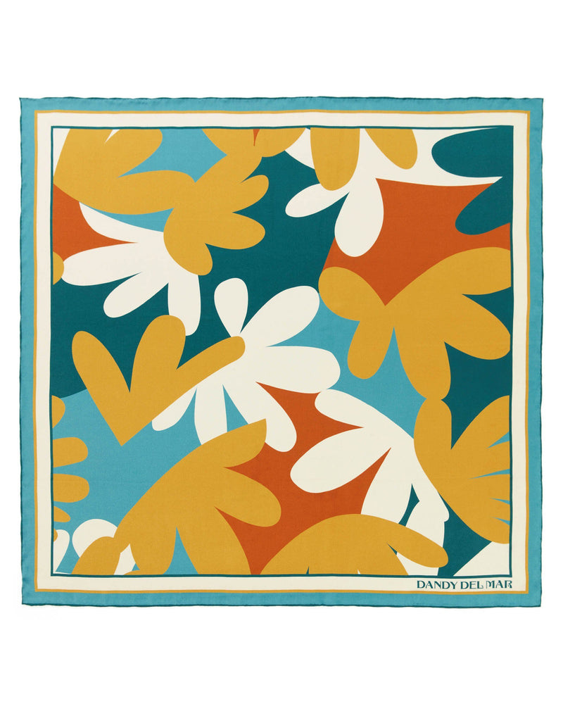 Accessories - The Moorea Silk Satin Scarf - Coral Lagoon