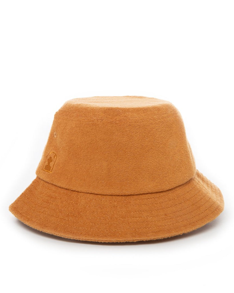 Hat - The Tropez Terry Cloth Bucket Hat - Burnt Sienna