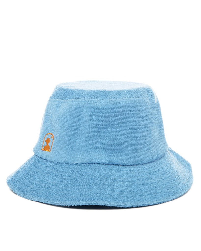 Hat - The Tropez Terry Cloth Bucket Hat - Sky Blue
