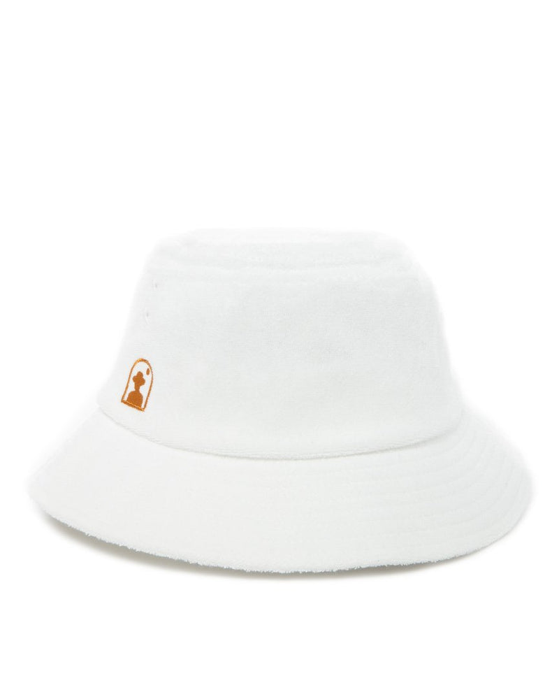 Hat - The Tropez Terry Cloth Bucket Hat - Vintage Ivory