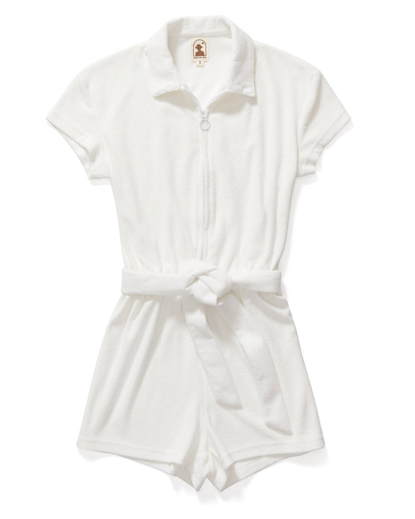 Rompers - The Tropez Romper - Vintage Ivory