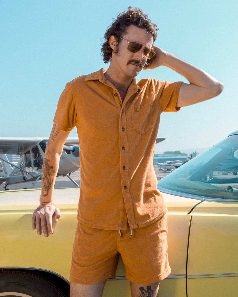 Shirts - The Tropez Terry Cloth Shirt - Burnt Sienna