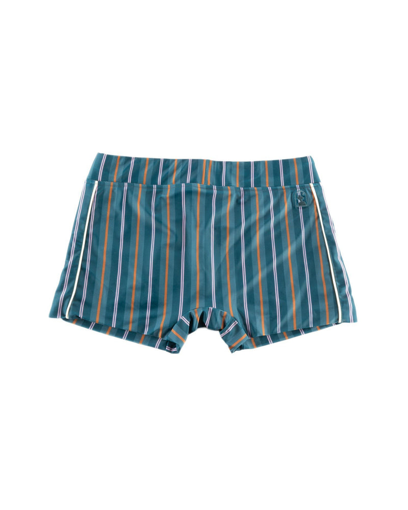 The Cassis Square Cut Swim Brief - Dawn Stripe