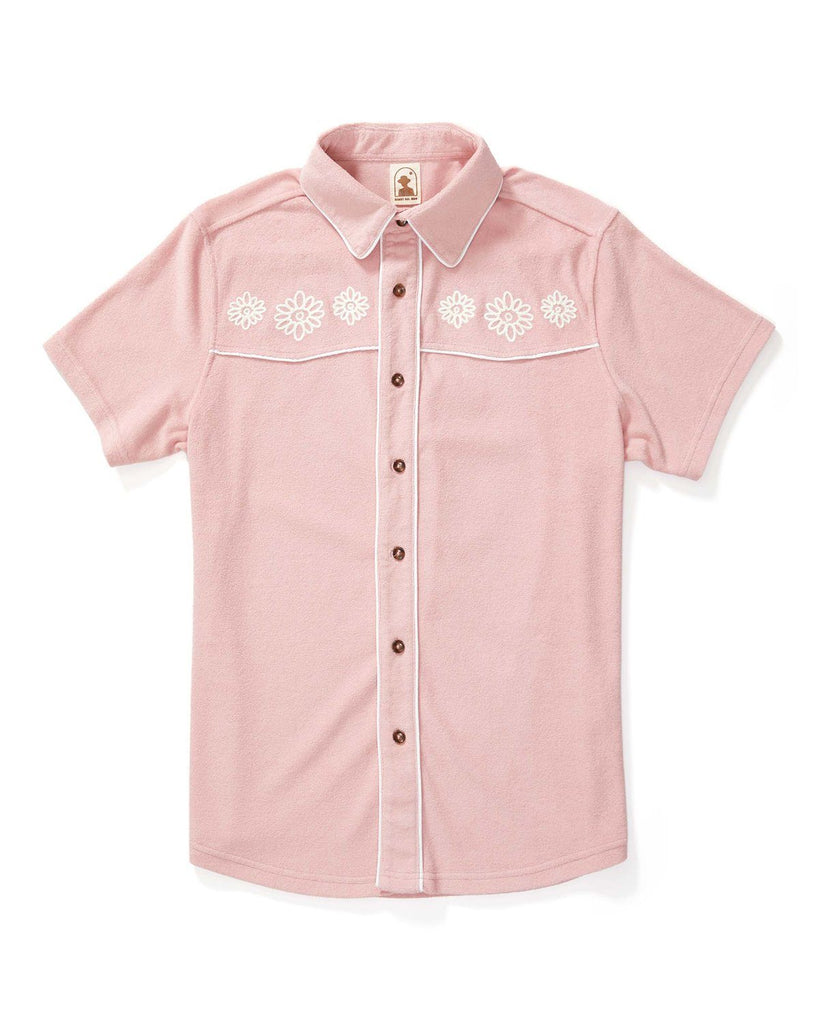 The Gaucho Terry Cloth Shirt - Mauve