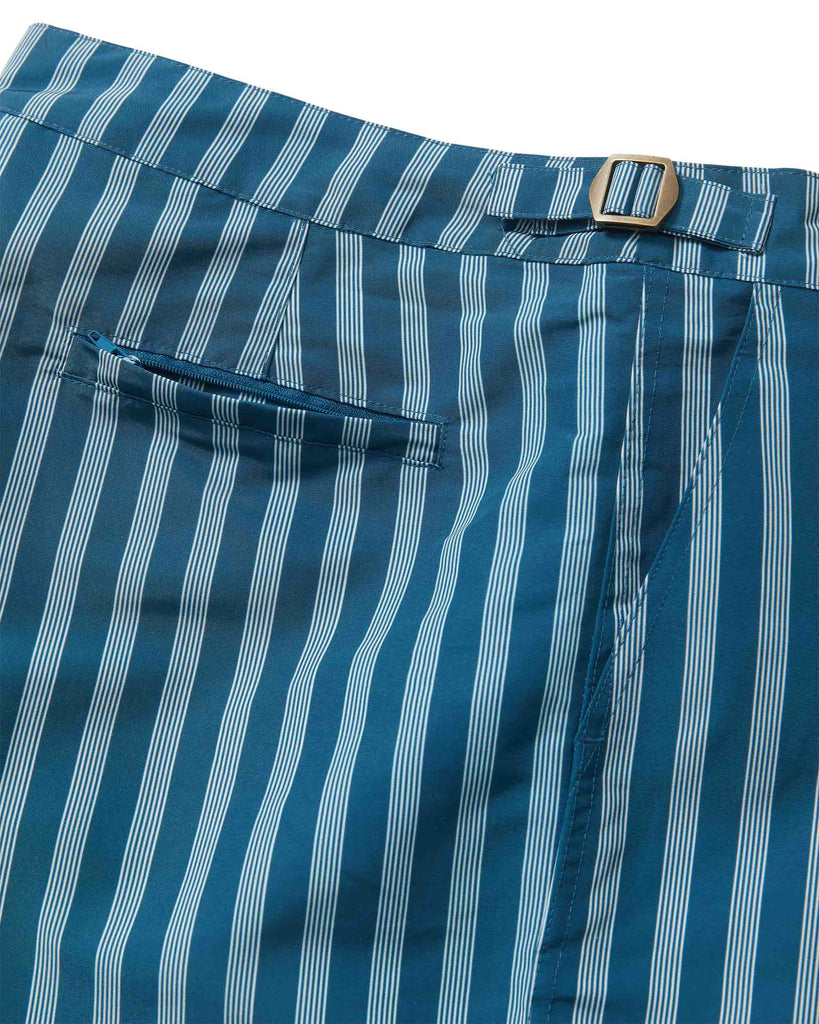 The Mallorca Swim-Walk Short - Deep Sea Stripe