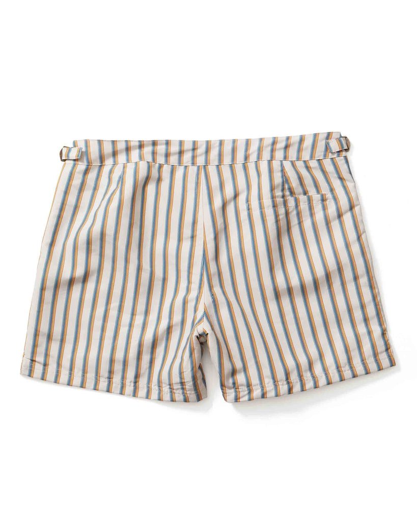 The Mallorca Swim-Walk Short - Ivory Stripe