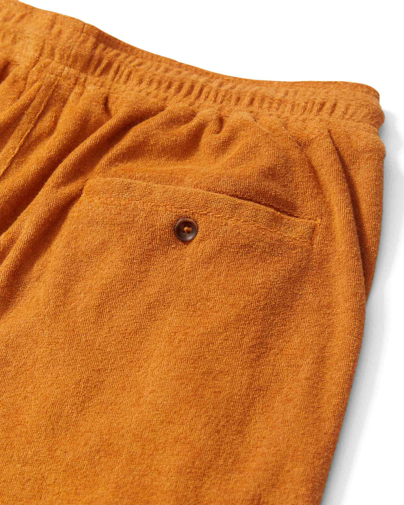 The Tropez Terry Cloth Pants - Burnt Sienna