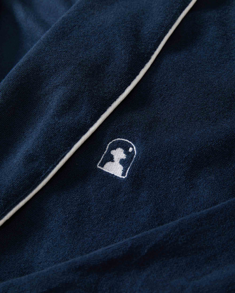 The Tropez Terry Cloth Robe - Vintage Navy