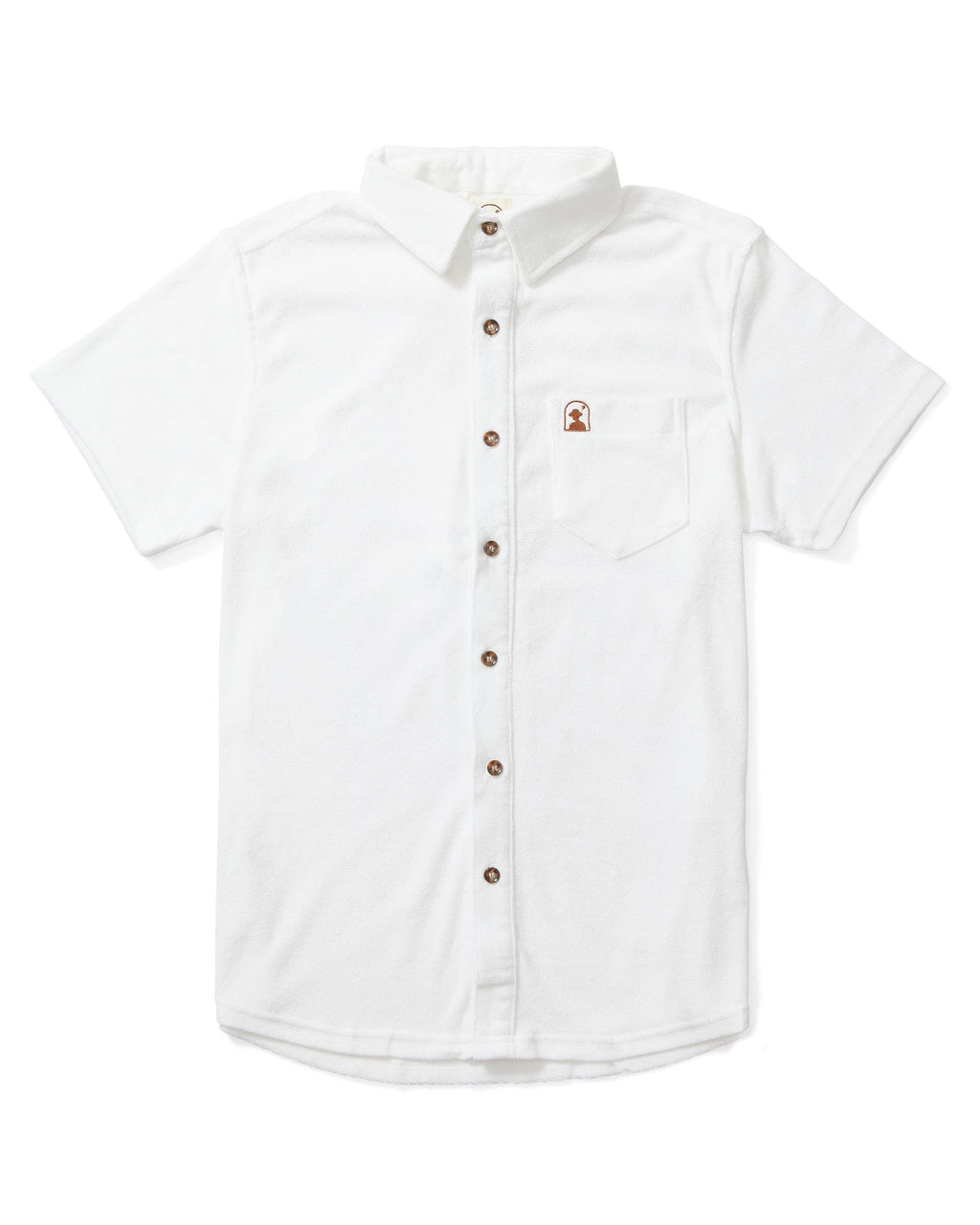 The Tropez Terry Cloth Shirt - Vintage Ivory