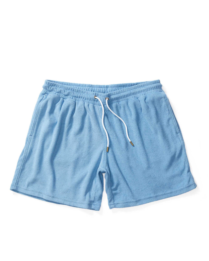 The Tropez Terry Cloth Shorts - Soft Sky Blue