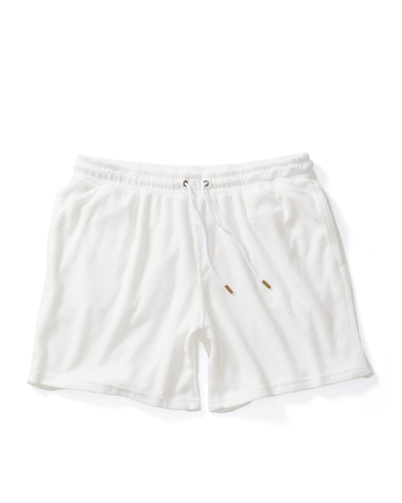 The Tropez Terry Cloth Shorts - Vintage Ivory