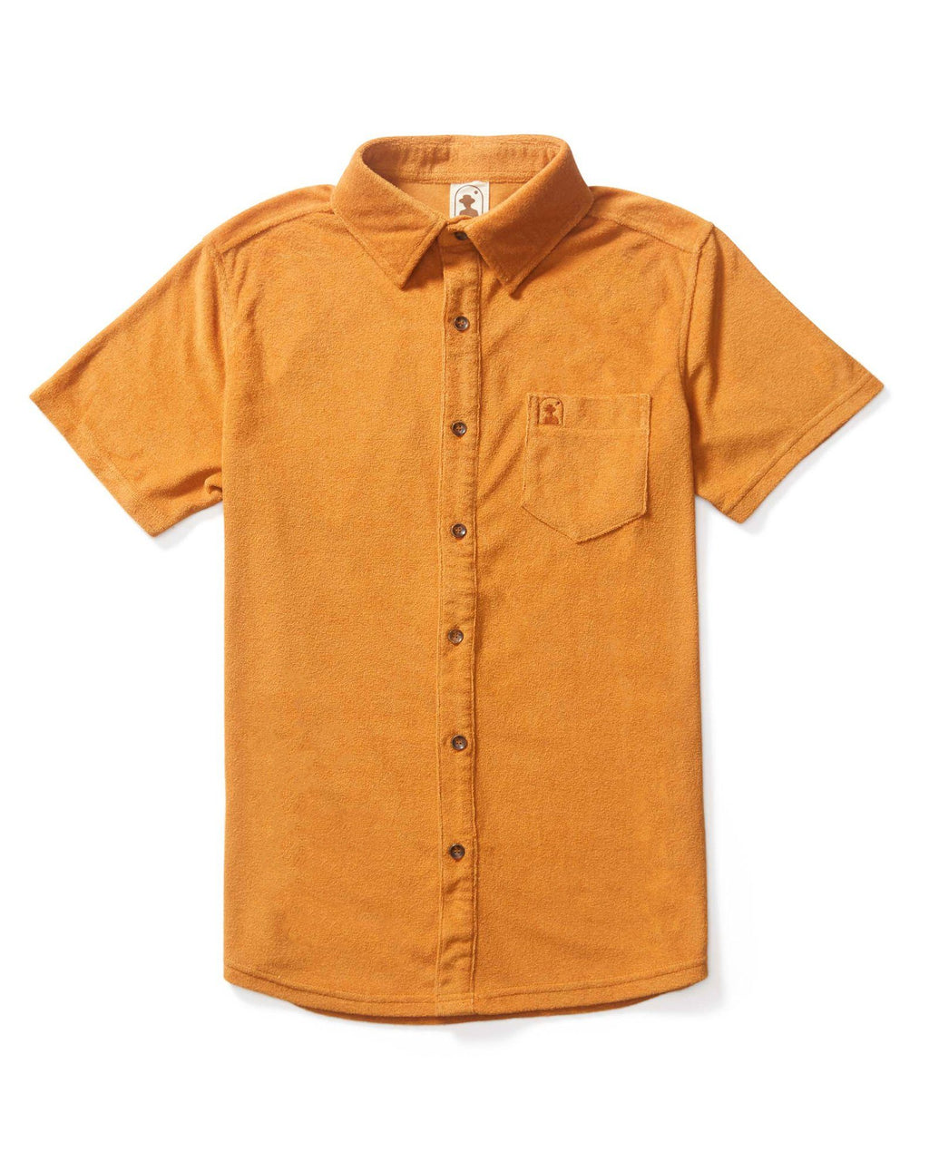 Tropez Shirts - The Tropez Terry Cloth Shirt - Burnt Sienna