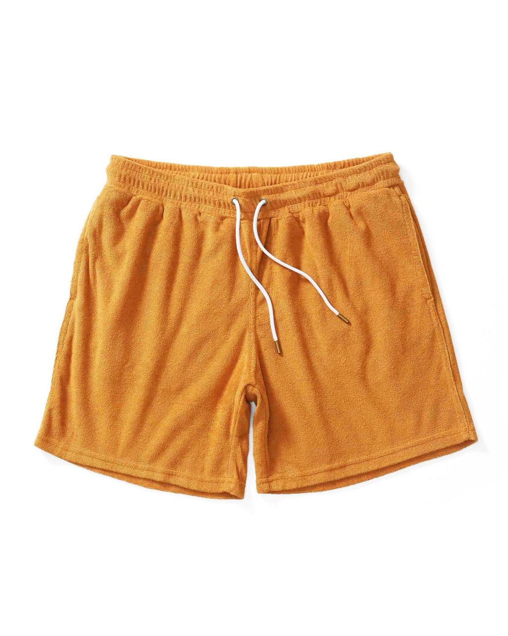 Tropez Shorts - The Tropez Terry Cloth Shorts - Burnt Sienna