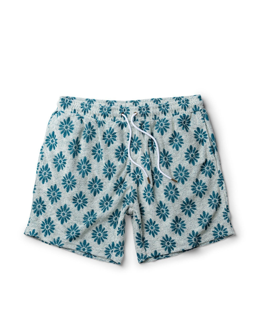 Tropez Shorts - The Tropez Terry Cloth Shorts - Gardenia