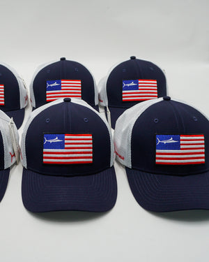 Dark Blue USA United Billfish Trucker Hat
