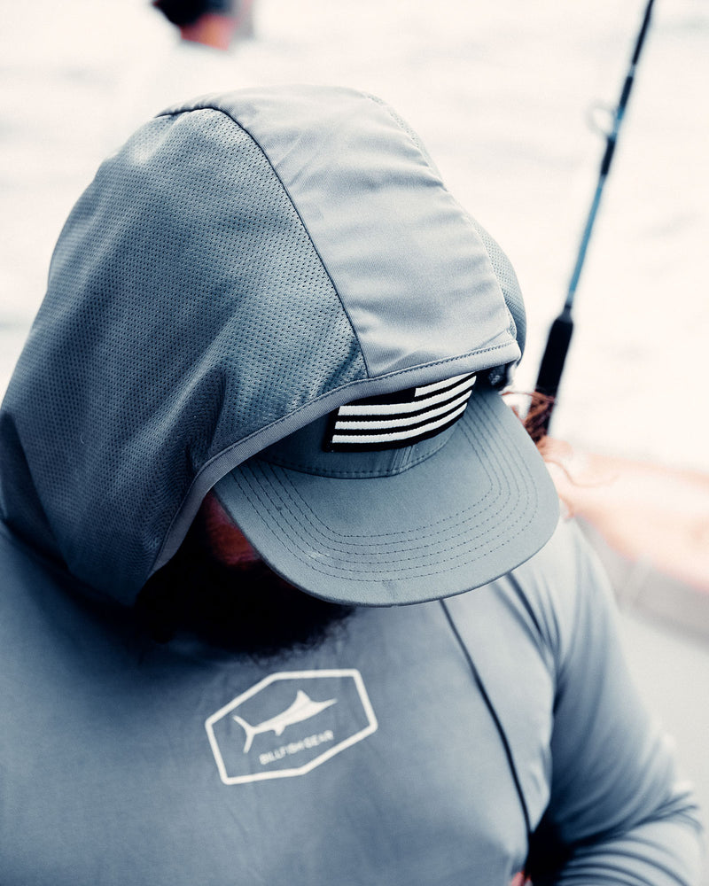 Grey United Billfish Flat Brim - Pro Series Hat