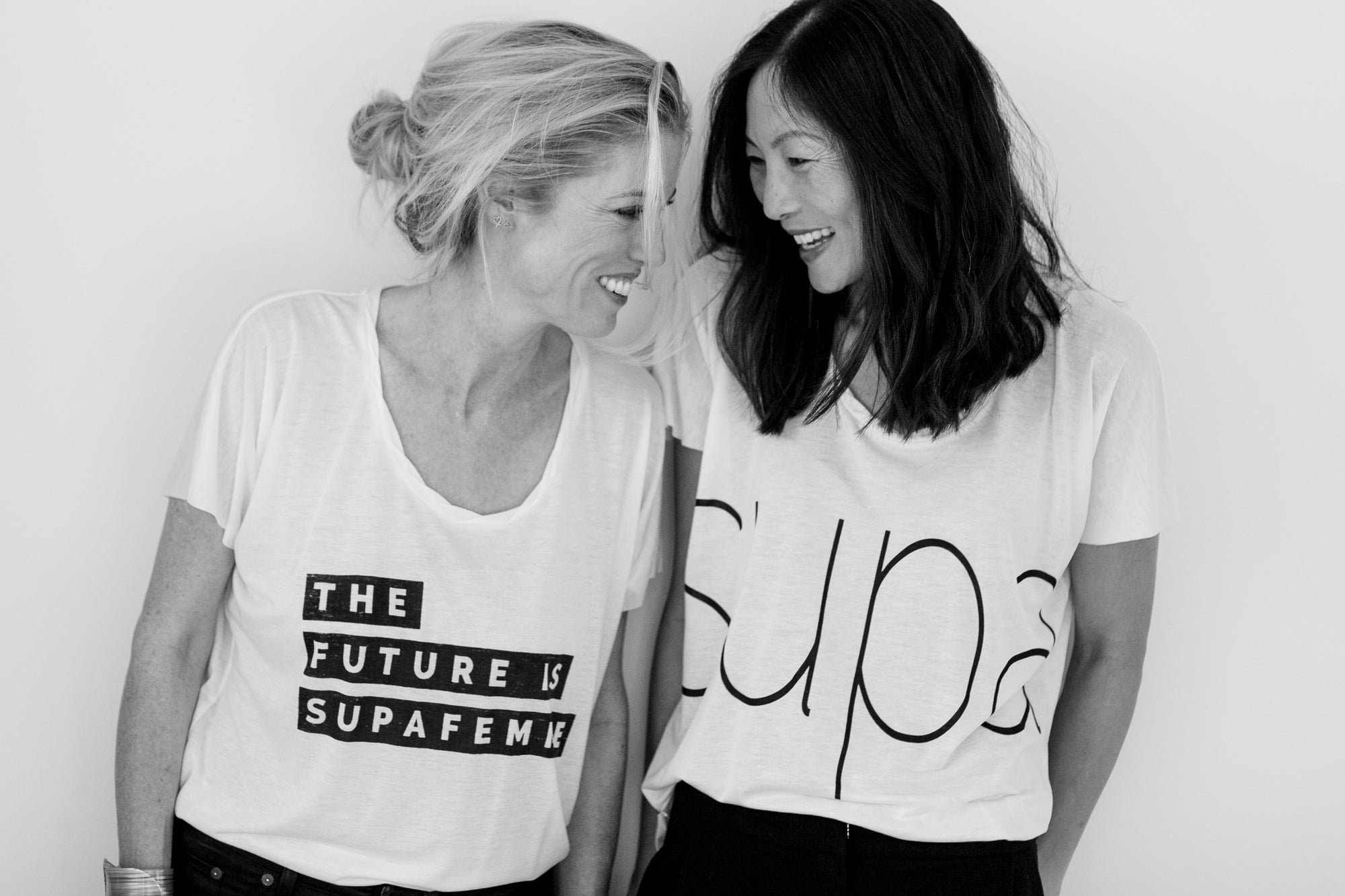 The Future is Supafemme tee shirt made in cotton