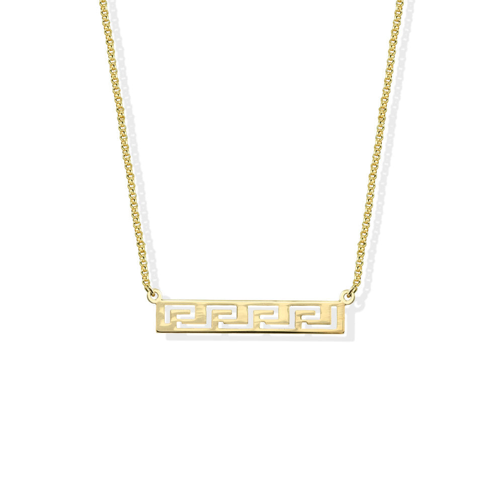 GRECIAN BAR PENDANT NECKLACE