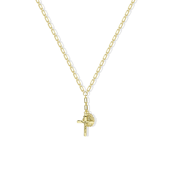 THE CROSS DOUBLE PENDANT NECKLACE