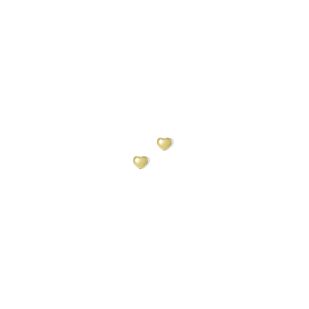 THE 14K GOLD HEART STUD