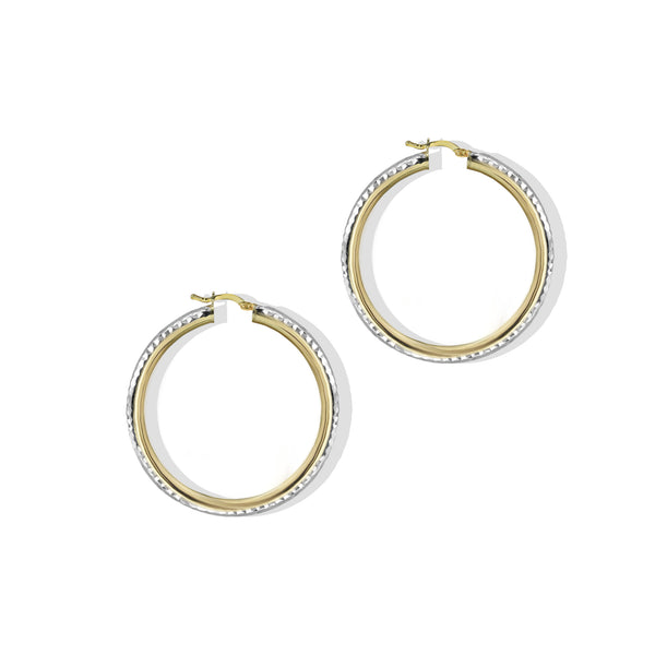 THE TWO TONE TEXTURED HOOP