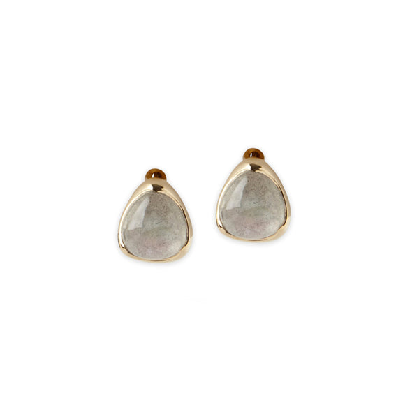 LABRADORITE STONE STUD EARRINGS