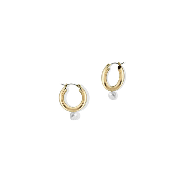 THE PEARL TUBE HOOP EARRING