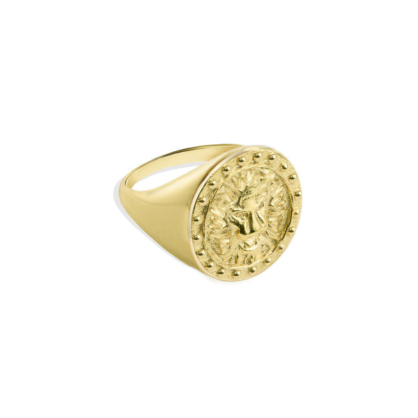 LIONESS MEDALLION RING