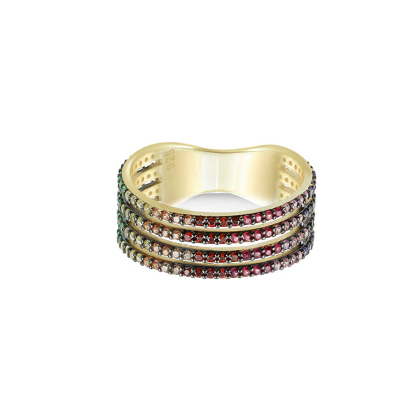 STACKED RAINBOW RING