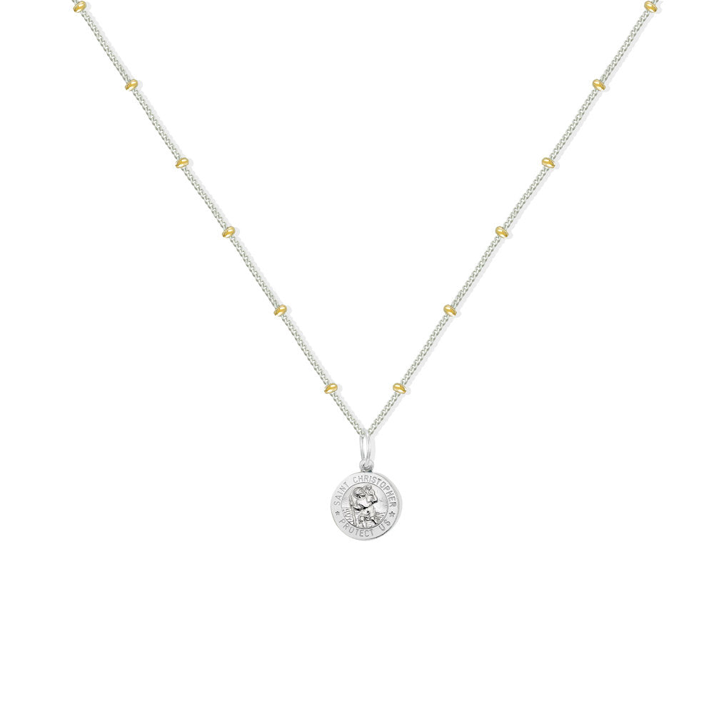 SAINT CHRISTOPHER SCRIPT NECKLACE