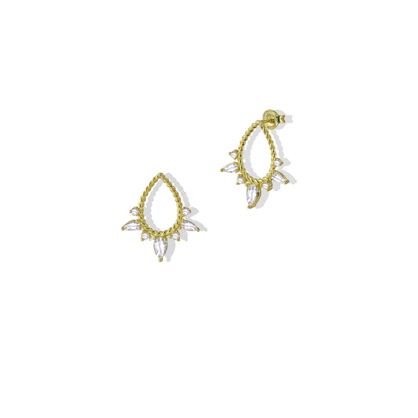 THE OPEN TEAR DROP EARRING