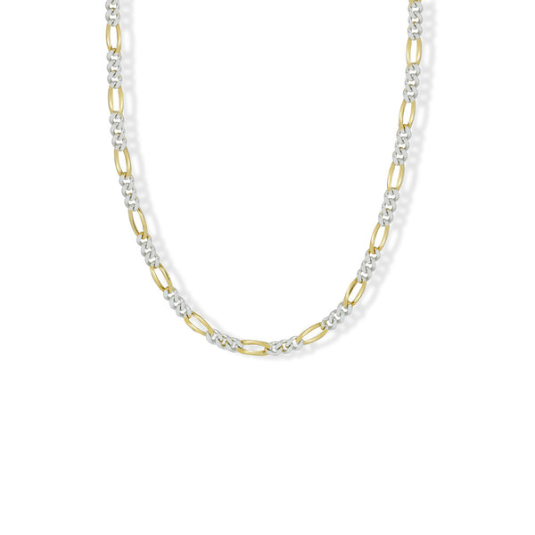 TWO TONE CAROL LINK NECKLACE