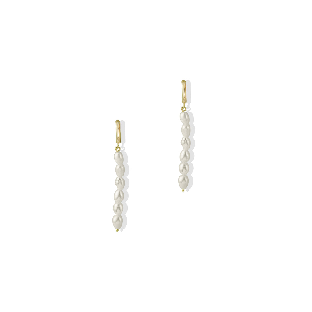 THE LILY PEARL DROP EARRING