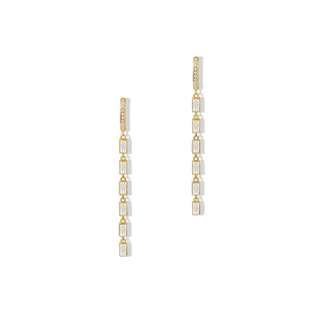 THE BAGUETTE DROP EARRING