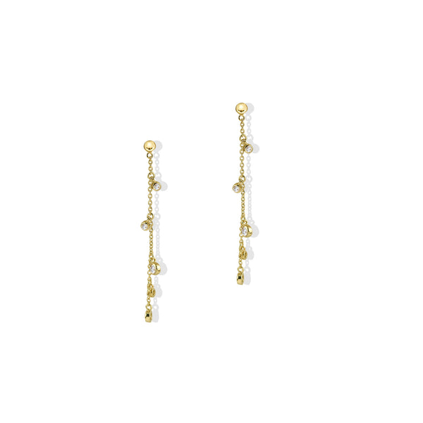 THE CZ CHARM DROP EARRING