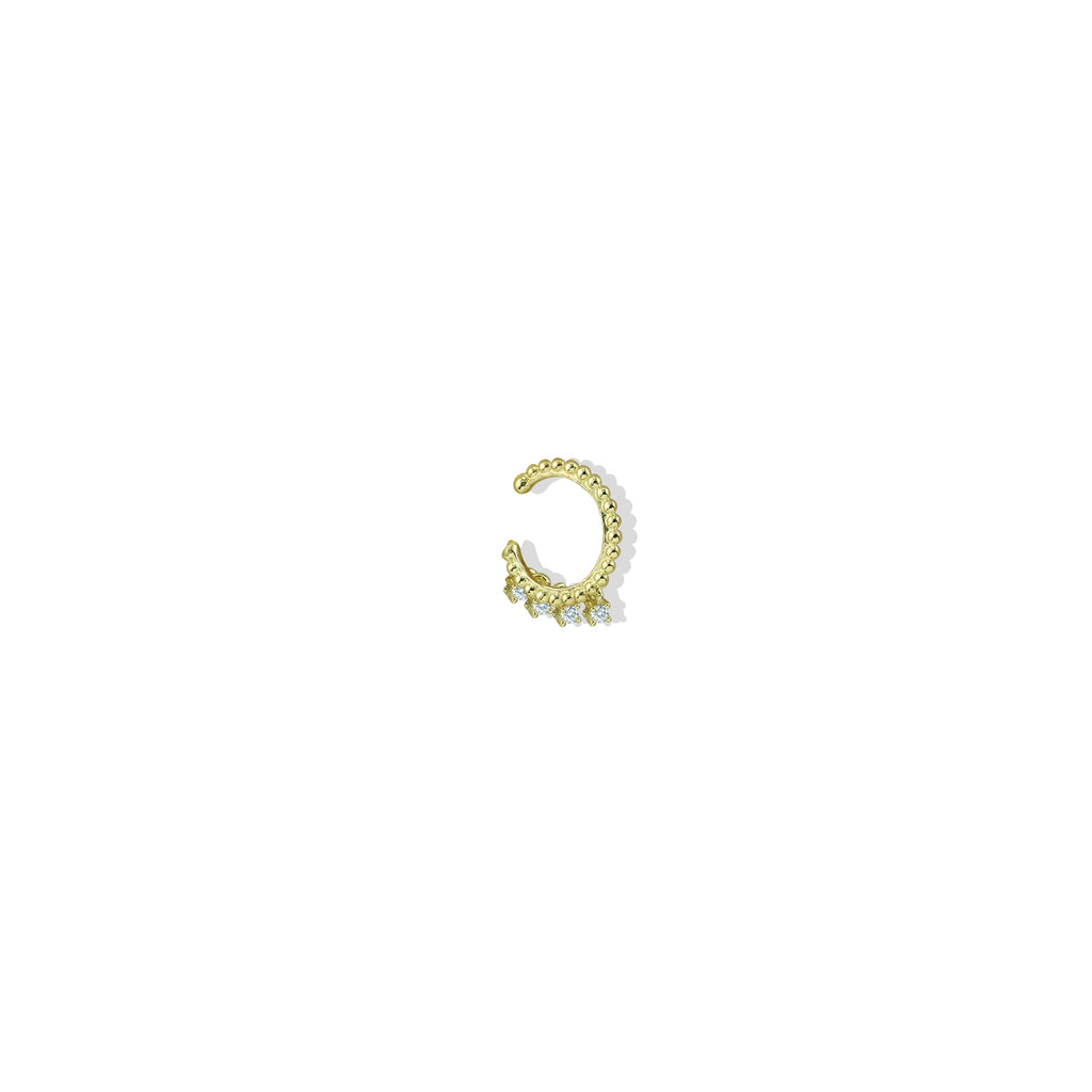 THE CZ CHARM EAR CUFF