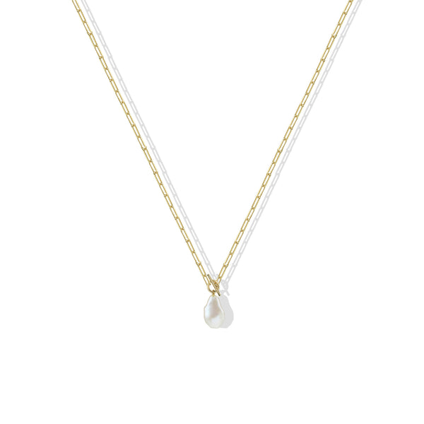 THE PEARL DROP TOGGLE NECKLACE