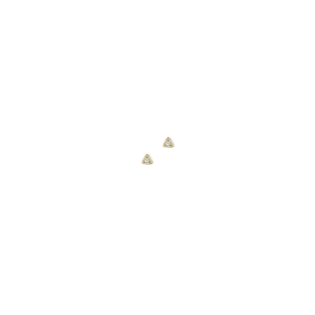 THE 14K GOLD TRIANGLE II STUD